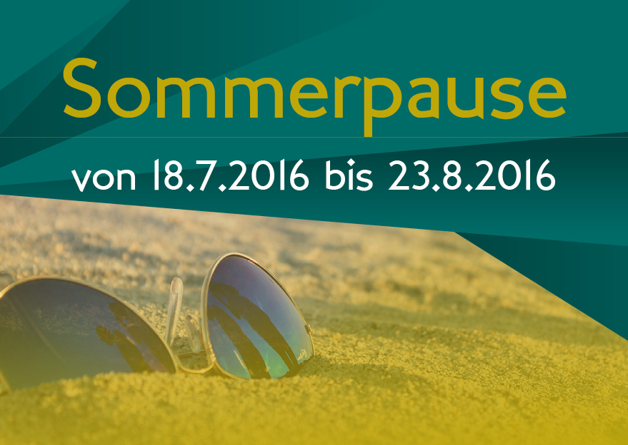 Sommerpause 2016 FUN - GG